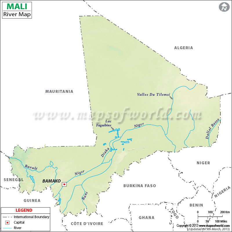 Mali River Map