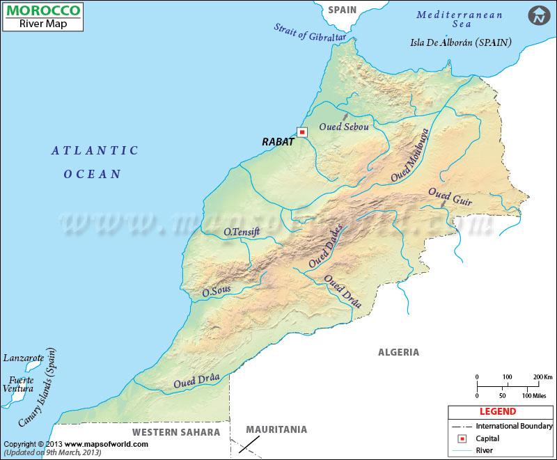 Morocco River Map