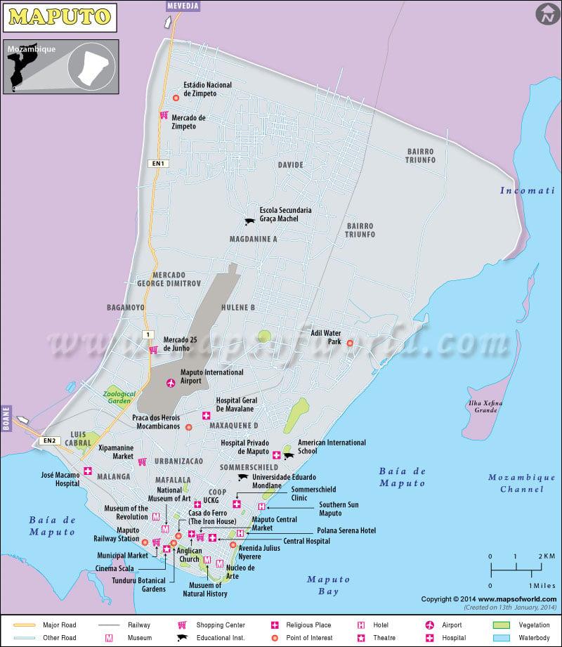 Map of Maputo