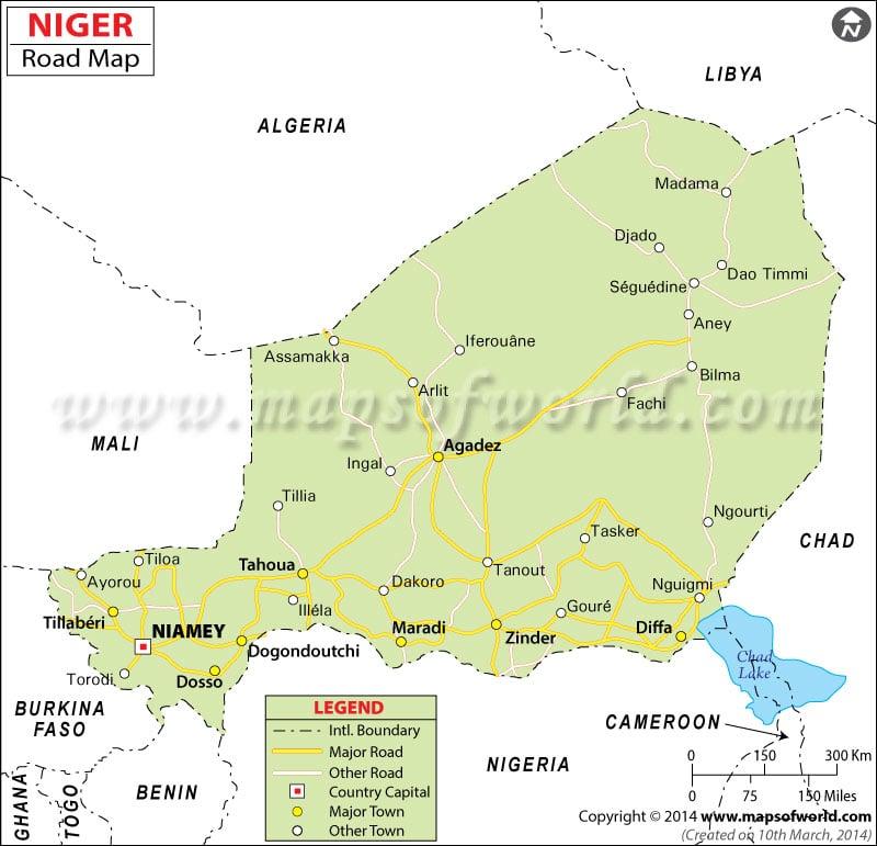 Niger Road Map