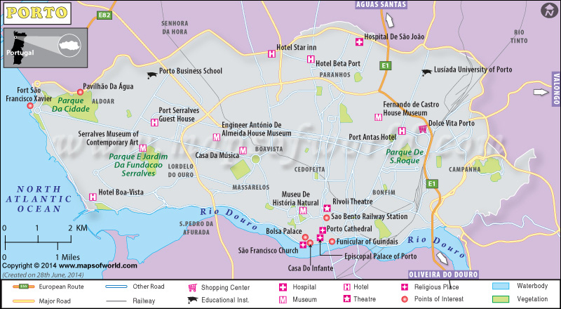Porto Map – Porto Tourist Map