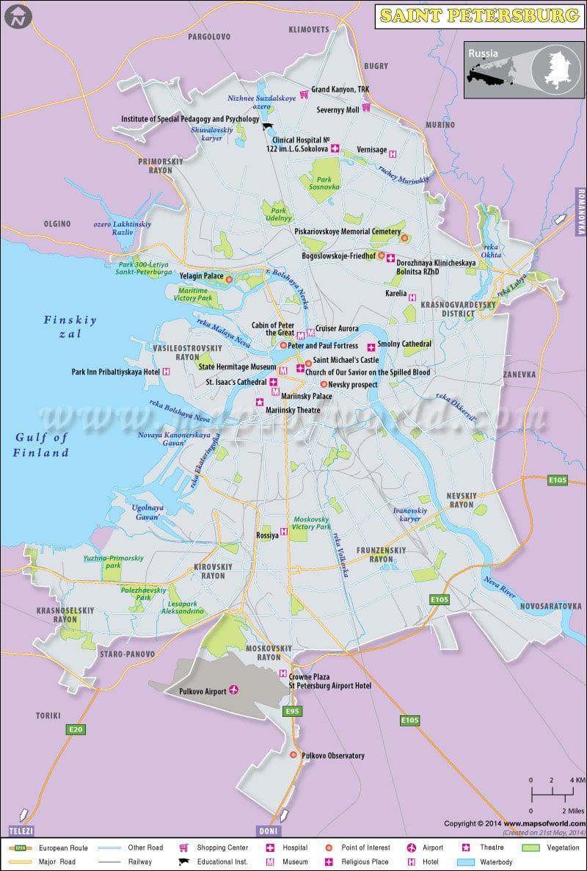Saint Petersburg Map