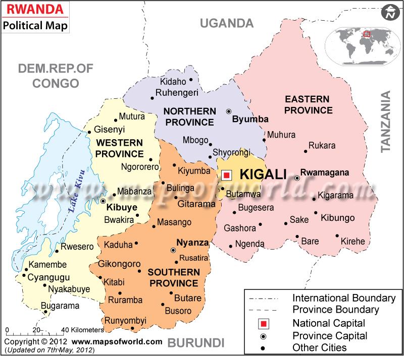 Political Map of Rwanda