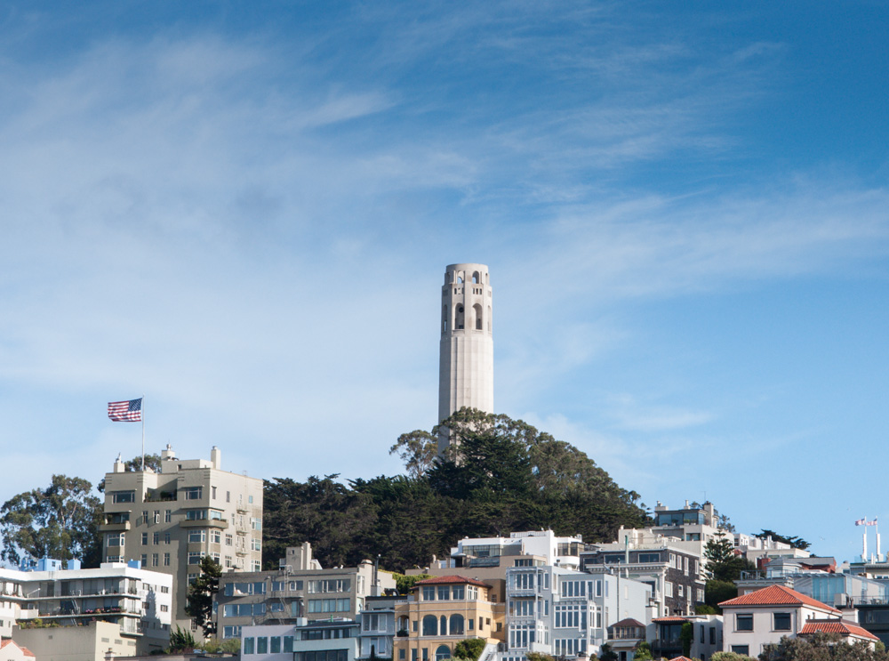 Coit Tower - offers the most incredible views of San Francisco
