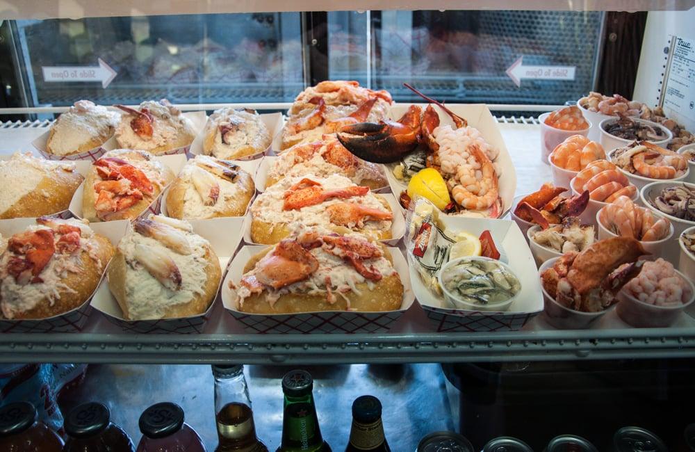 Street-side food at Fisherman's Wharf