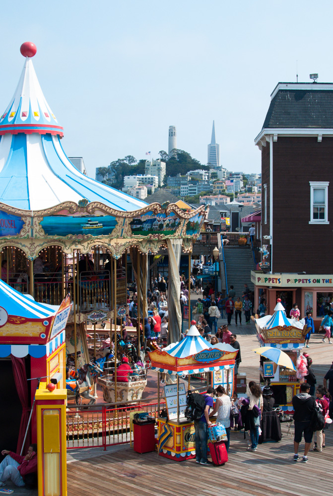 The carousel at Pier 39