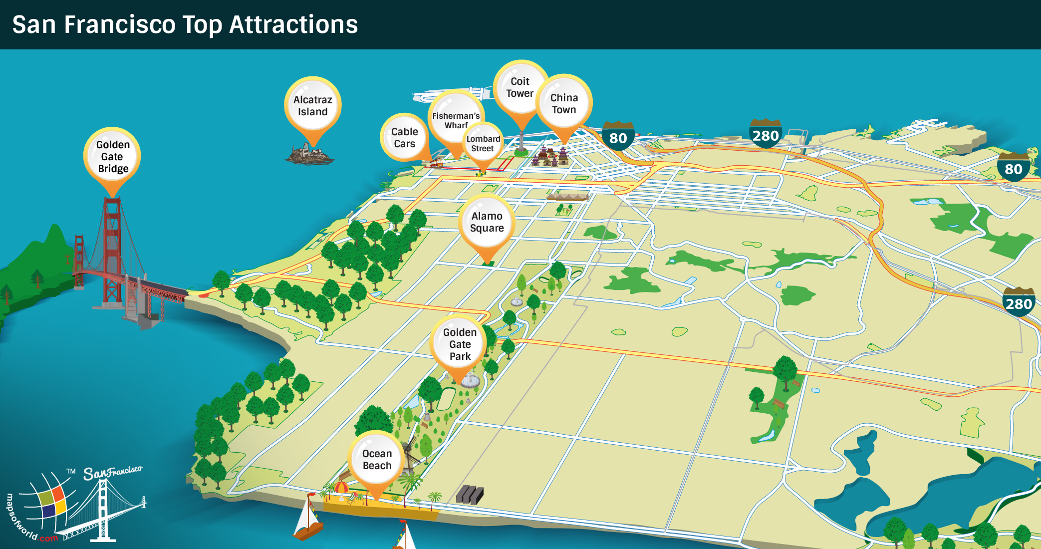 San Francisco Attractions Map