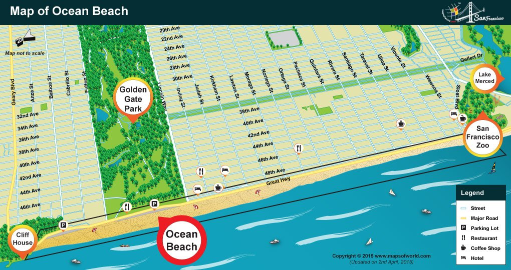 Ocean Beach Location Map