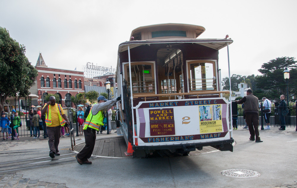 The cable car turnaround