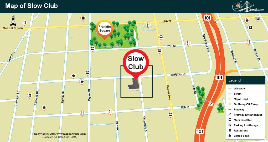 Map of Slow Club