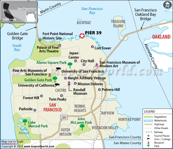 Pier 39 Location Map