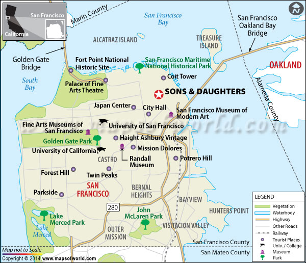 Sons & Daughters Restaurant Location Map
