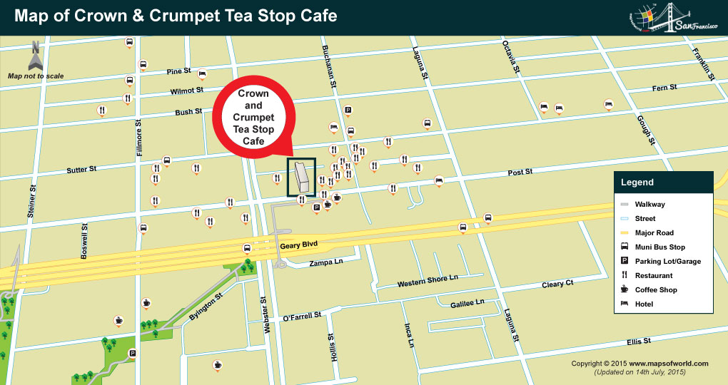 Location of Crown and Crumpet Cafe