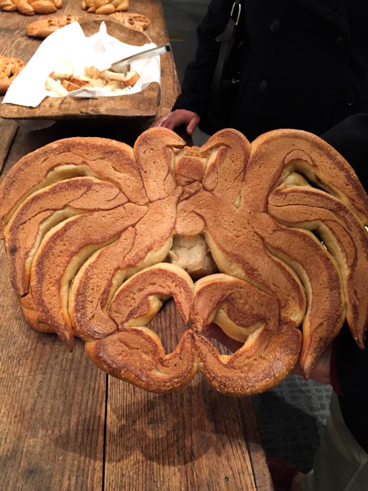 Intricate design of a sourdough crab