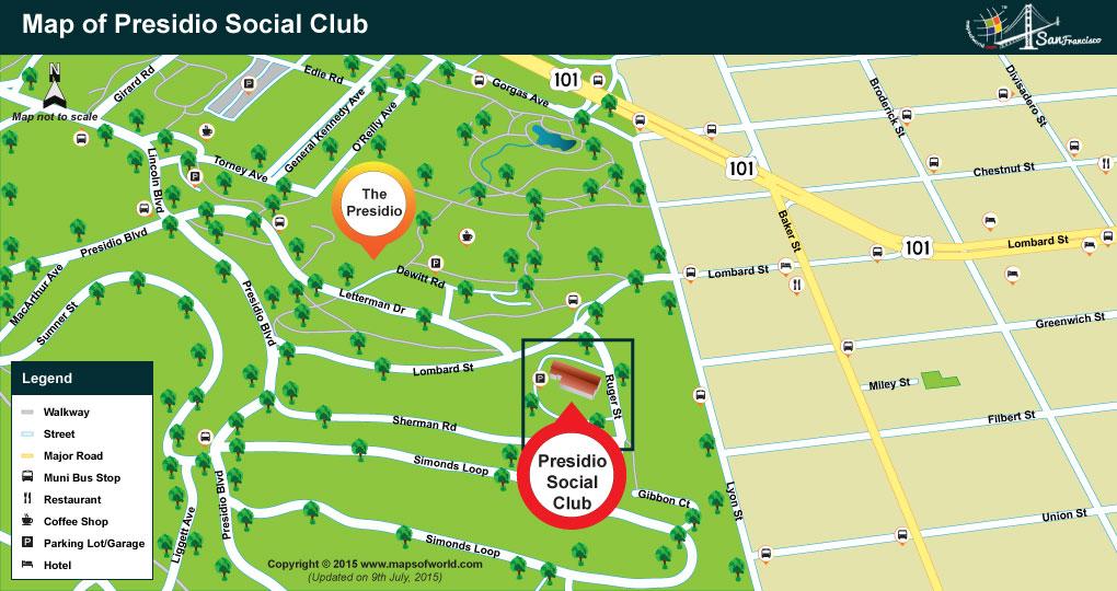 Presidio Social Club Map