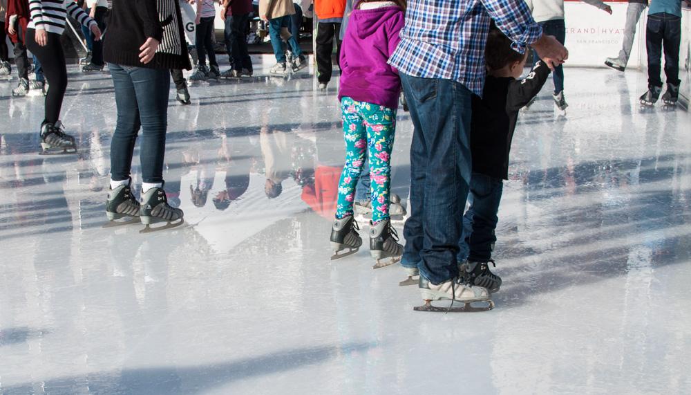 Ice skating at Union Square