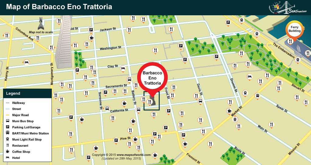Location of Barbacco Eno Trattoria Restaurant