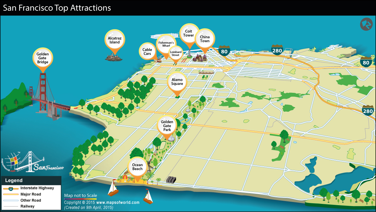 Map of San Francisco Tourist Attractions