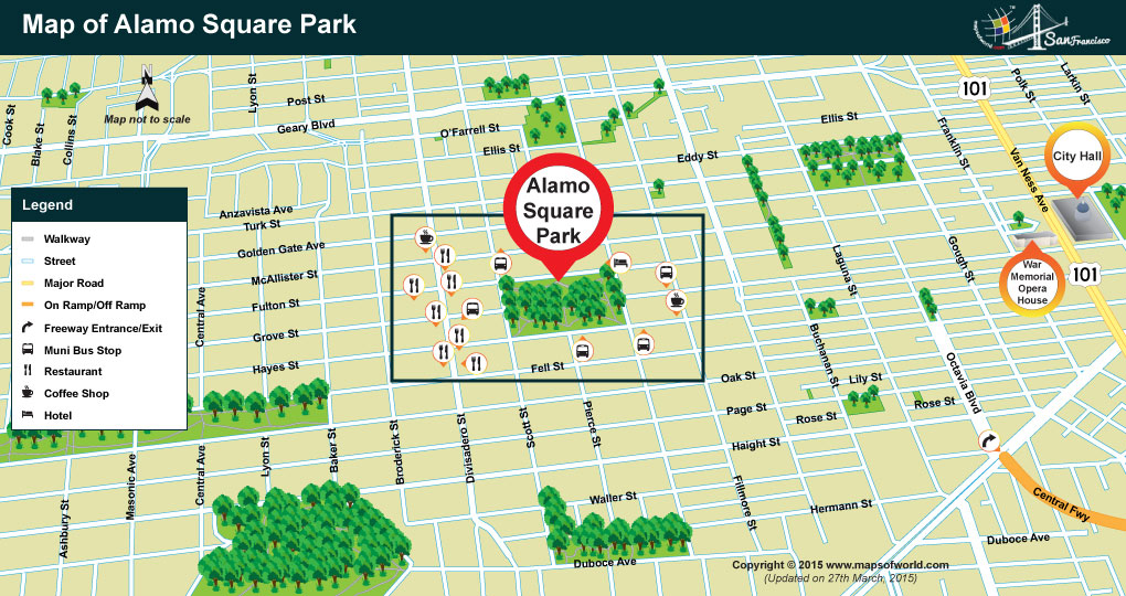 Alamo Square Park Location Map Image