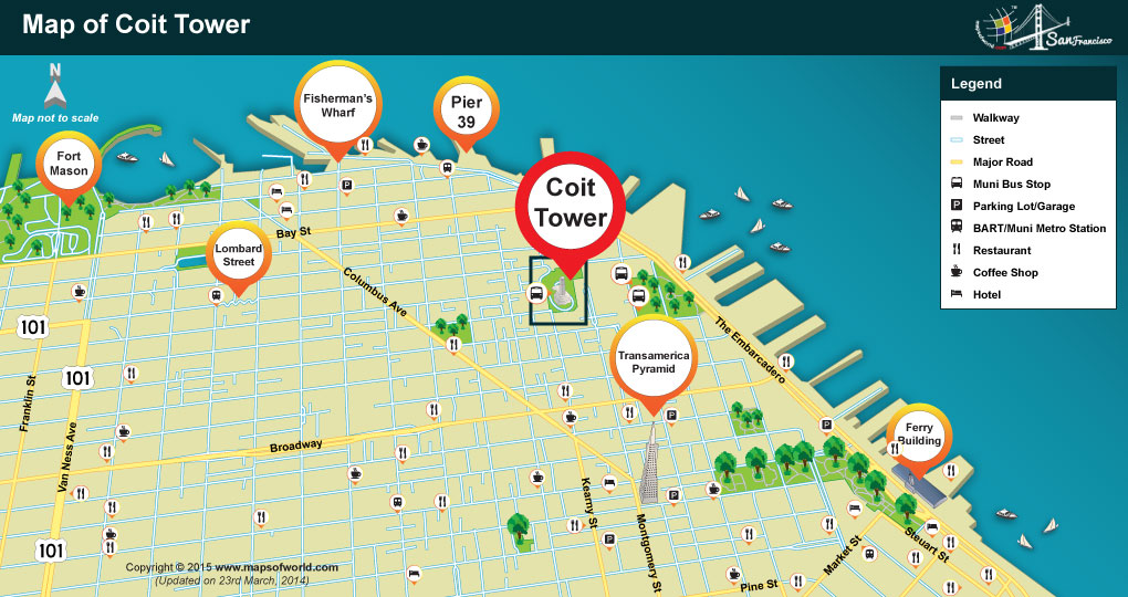 Coit Tower Location Map