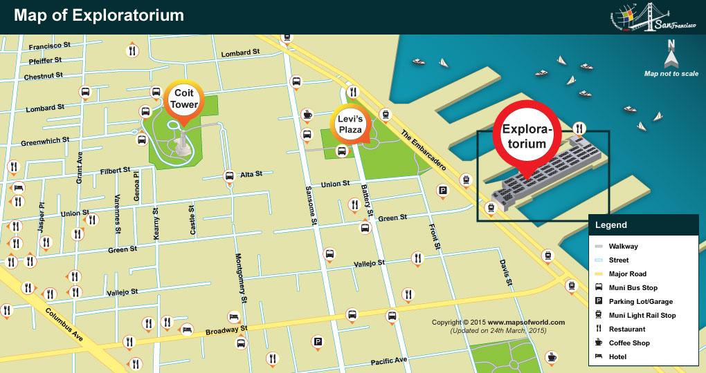 Map of the Exploratorium