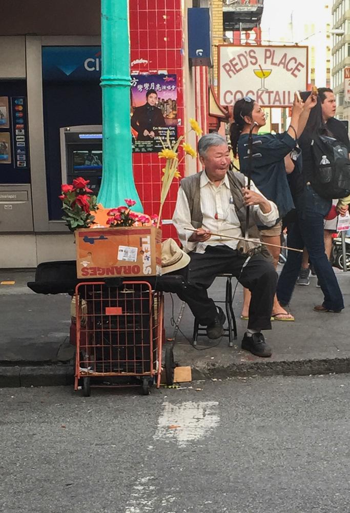 The happy musician