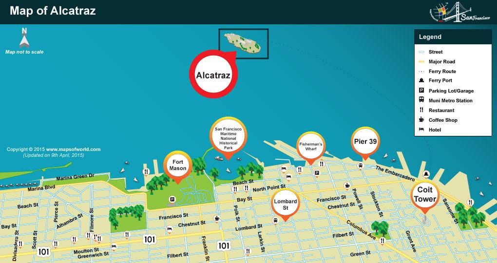 Alcatraz Location Map