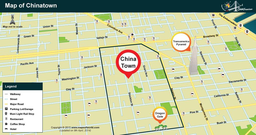 Chinatown Map, San Francisco