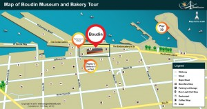 Map of Boudin Museum and Bakery Map