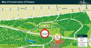 Location of Conservatory of Flowers
