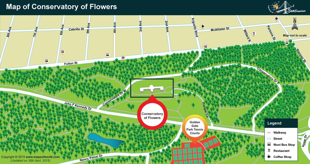 Map of Conservatory of Flowers