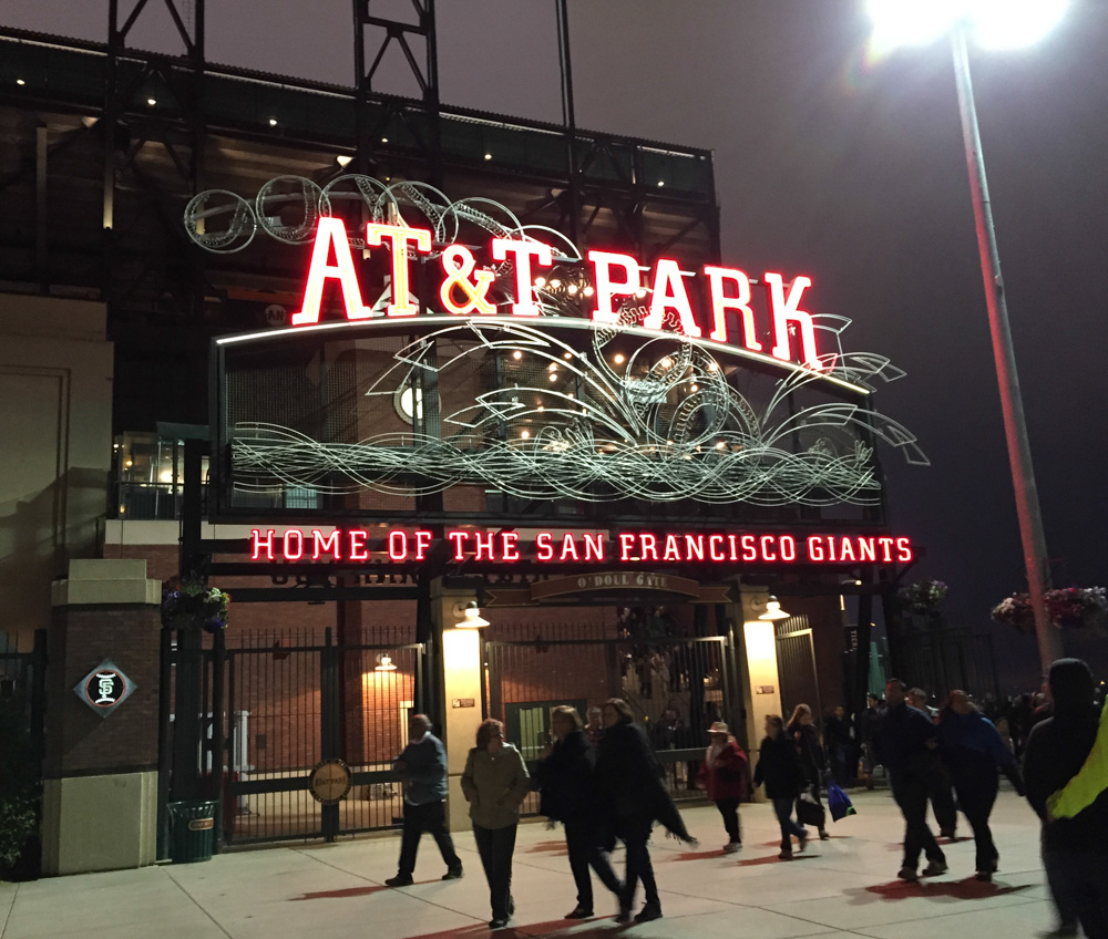 AT&T Park after the opera