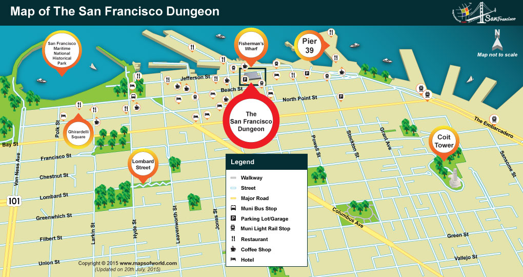 Location Map of San Francisco Dungeon