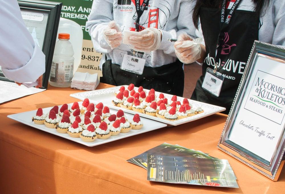 The chocolate raspberry tarts