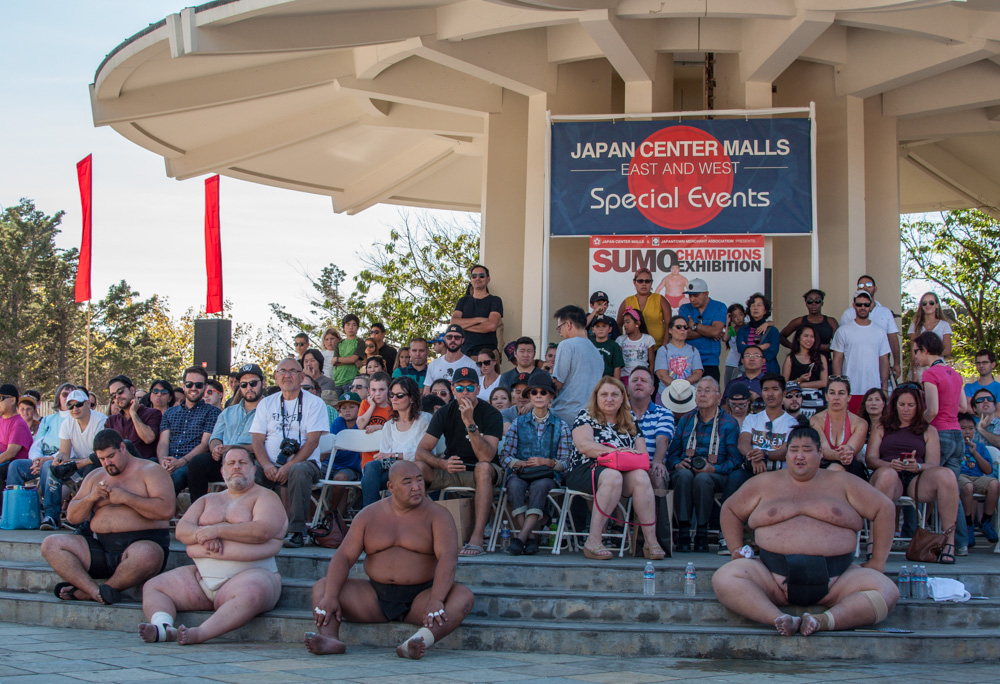 The Sumo Champions in Japantown's Peace Plaza