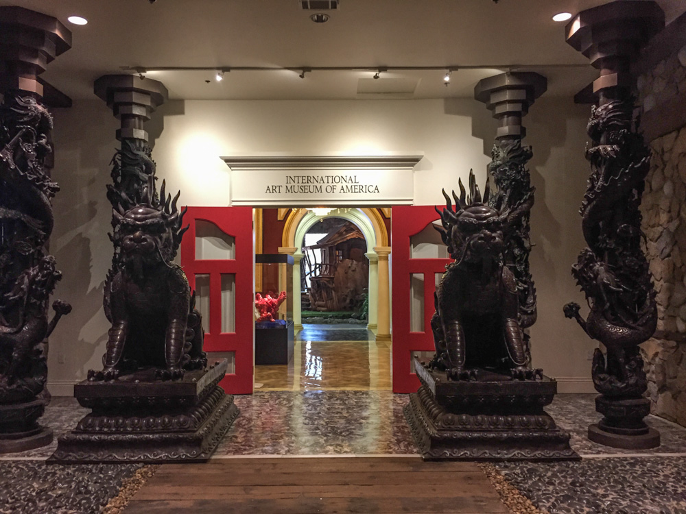 Asian carvings and doors, European style arches and columns, and a tree house