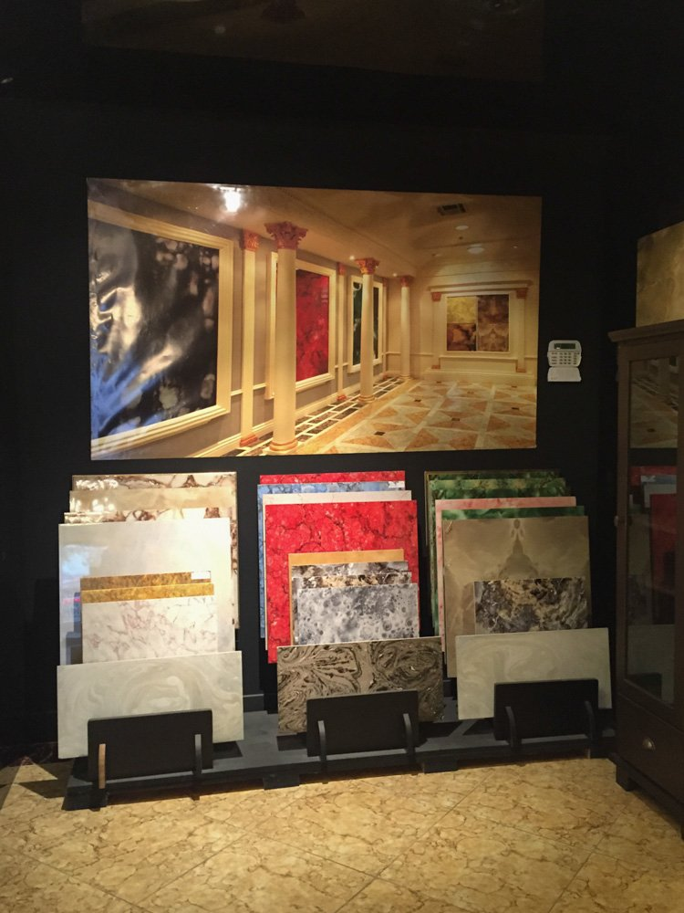 Tile showroom: buy replicas of the museum floor!