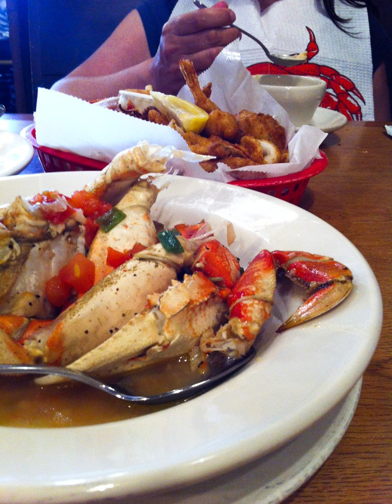 Alioto's Dungeness crab and Fisherman's Platter