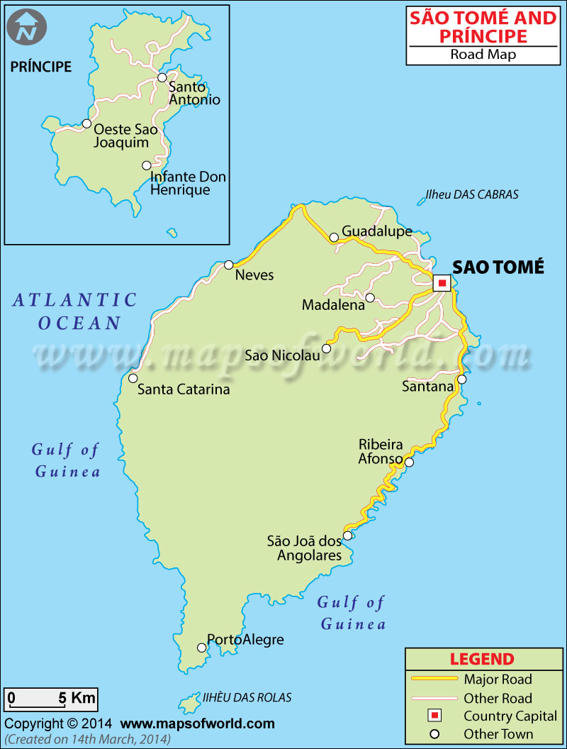 Sao Tome and Principe Road Map