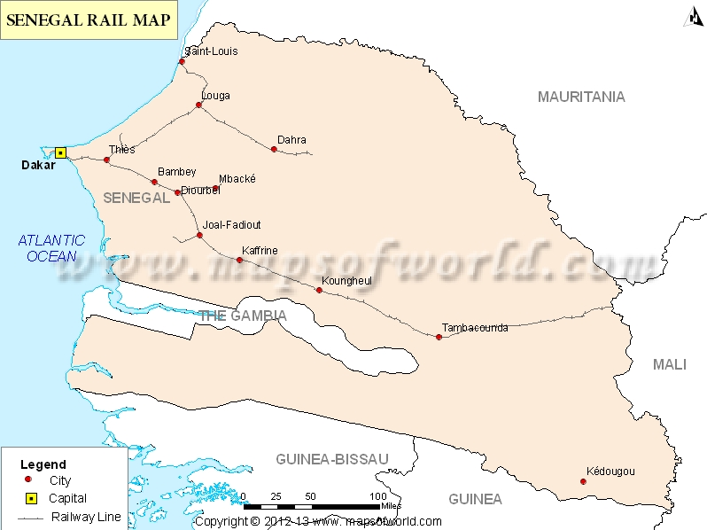 Senegal Rail Map