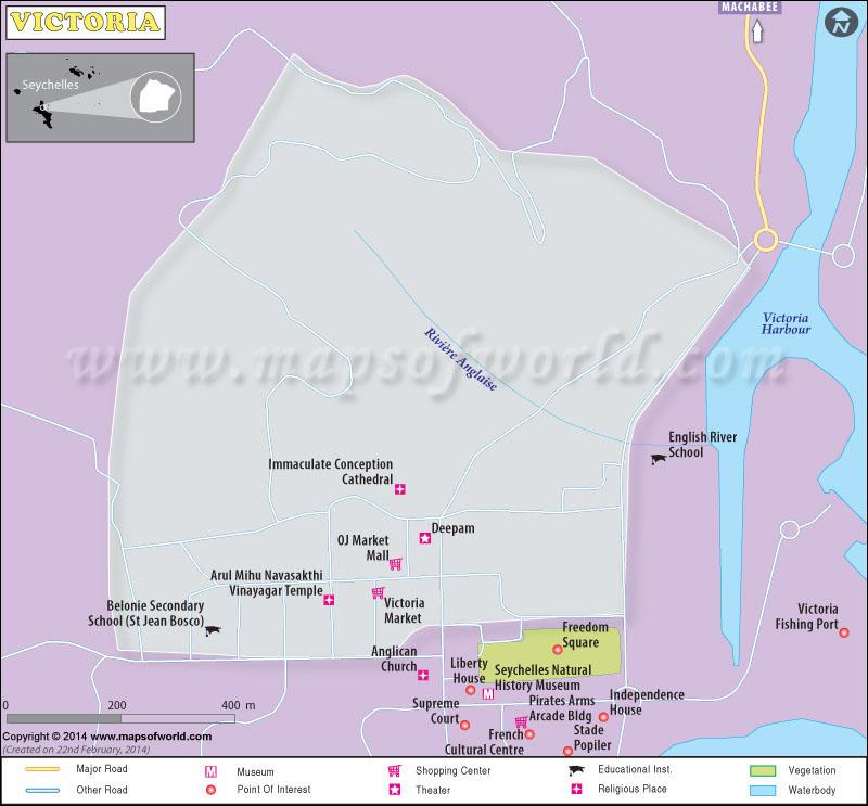 Victoria City Map
