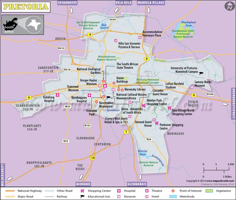 Pretoria Map