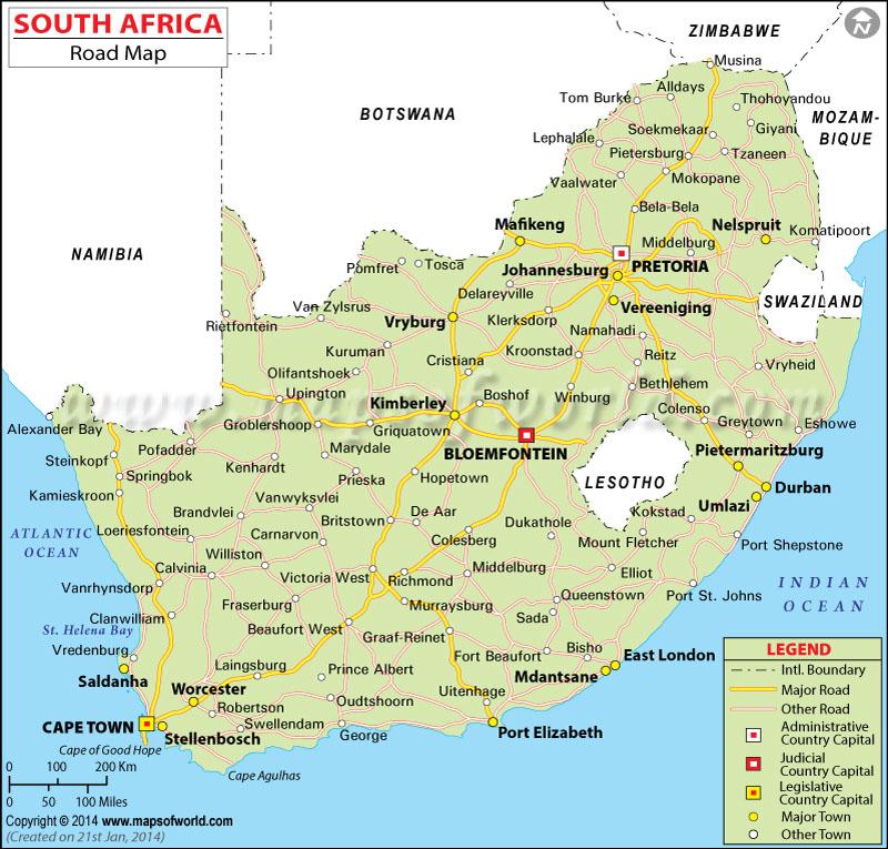 Africa Road Map – Roadmap of