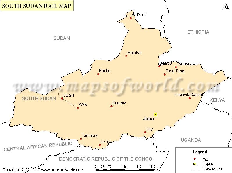 South Sudan Rail Map