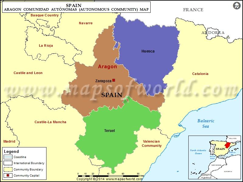 Aragon Map Spain