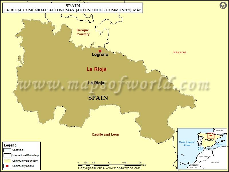 La Rioja Map