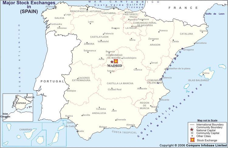 Spain Stock Exchange Map