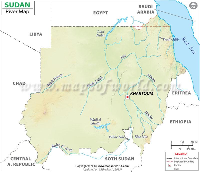 Sudan River Map