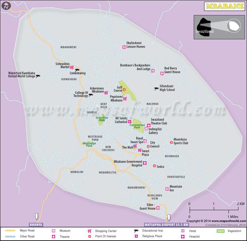 Mbabane Map