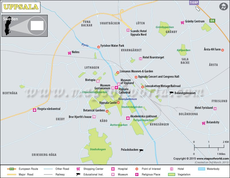 Uppsala Map